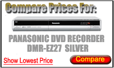 Compare Prices for Panasonic Dvd Recorder DMR-EZ27 Silver